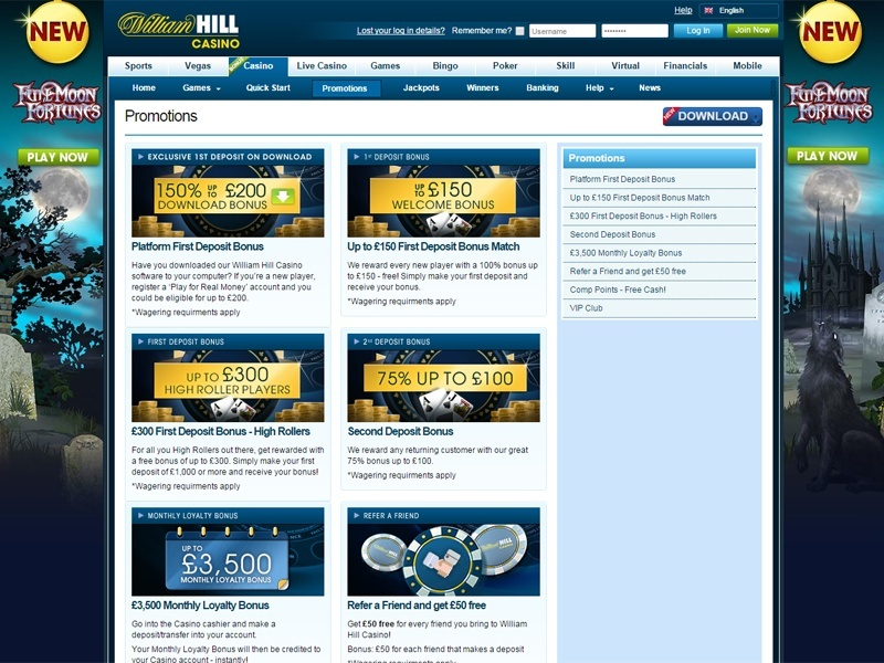 online william hill casino online ra
